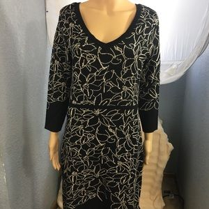 Black Neiman Marcus Sweater Dress with kick skirt